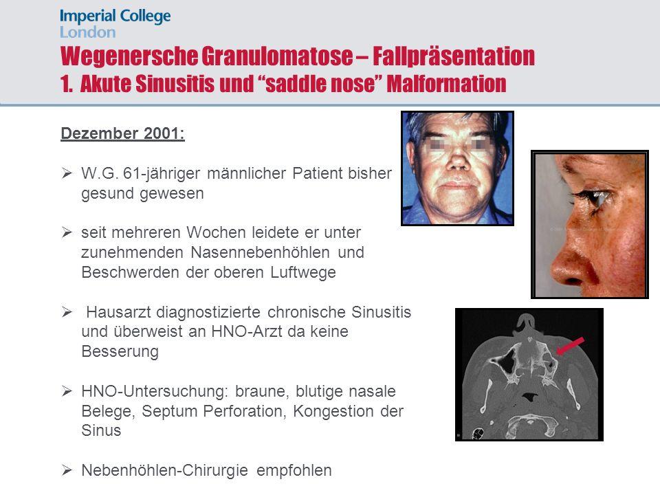 Wegenersche Granulomatose – Fallpräsentation 1