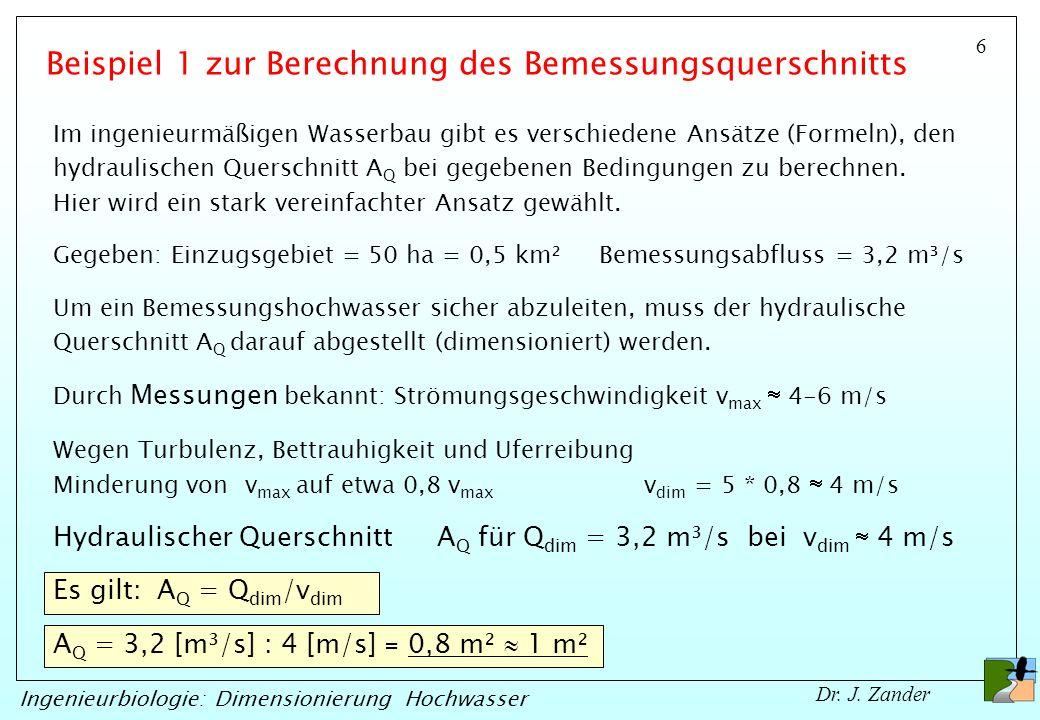 Beispiel 1 zur Berechnung des Bemessungsquerschnitts