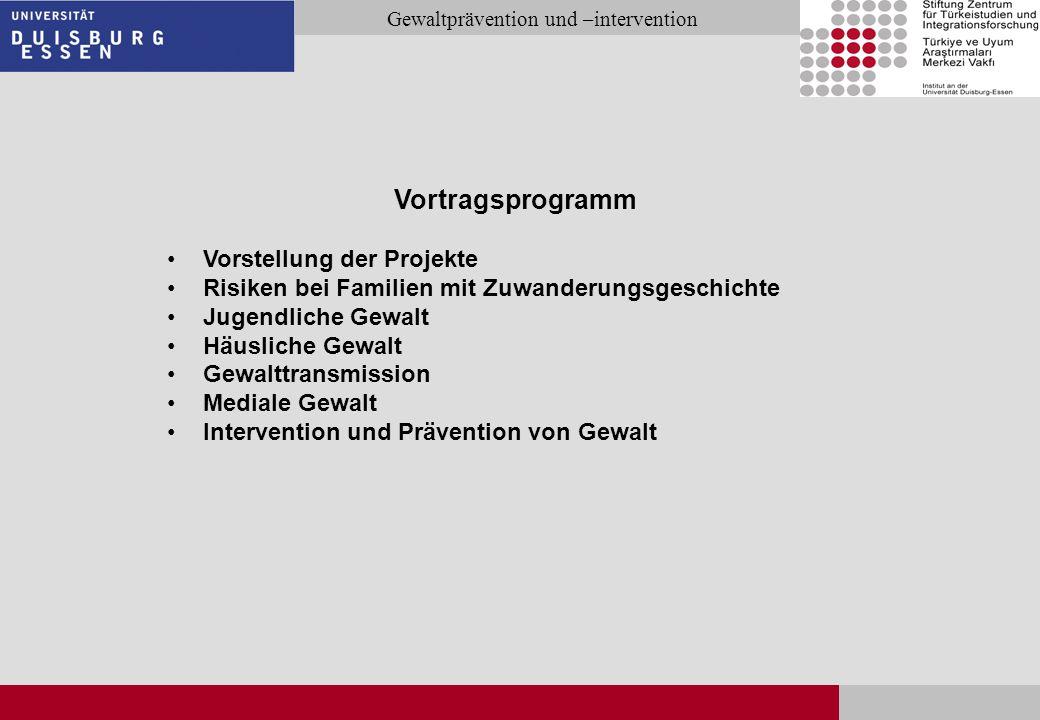 Vortragsprogramm Vorstellung der Projekte