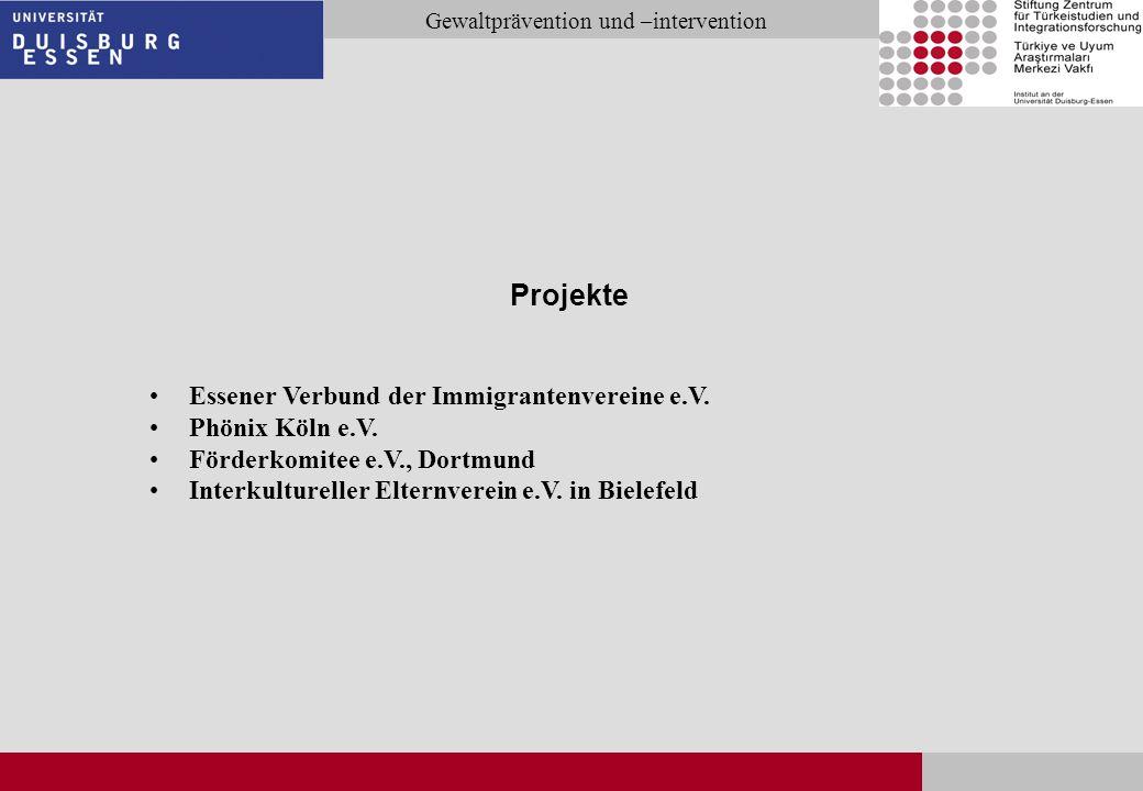 Projekte Essener Verbund der Immigrantenvereine e.V. Phönix Köln e.V.