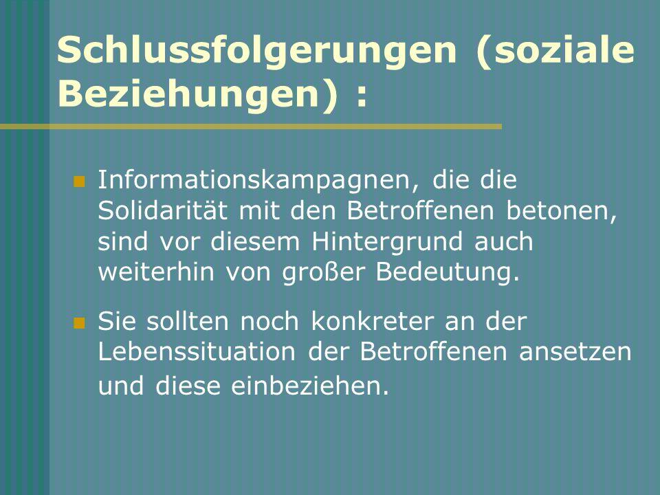 Schlussfolgerungen (soziale Beziehungen) :