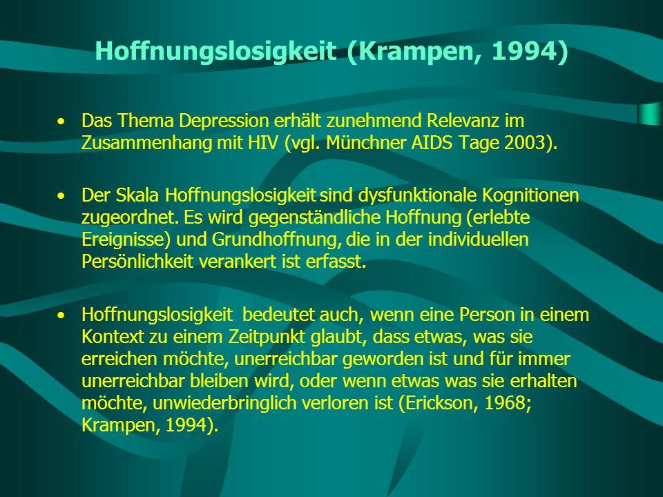 Hoffnungslosigkeit (Krampen, 1994)