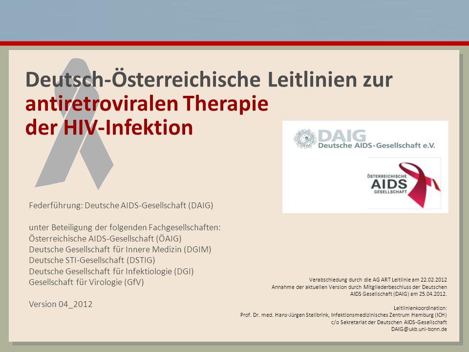 Deutsch-Österreichische Leitlinien zur antiretroviralen Therapie