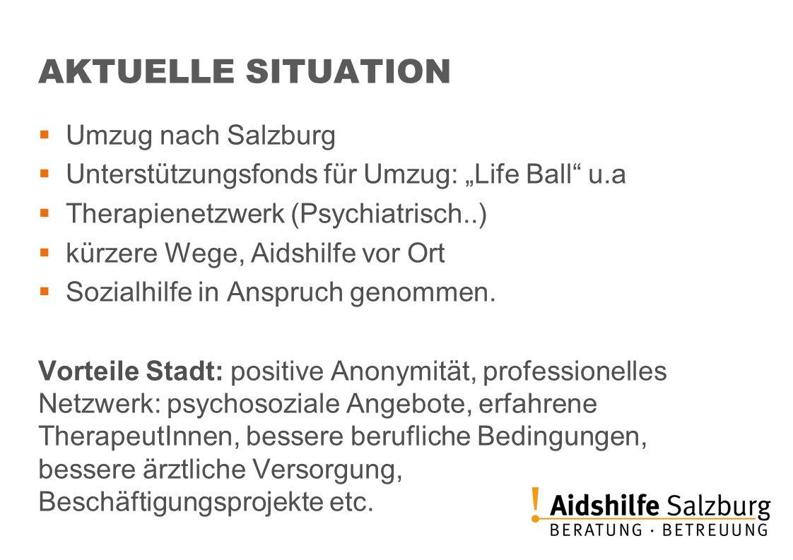 AKTUELLE SITUATION Umzug nach Salzburg
