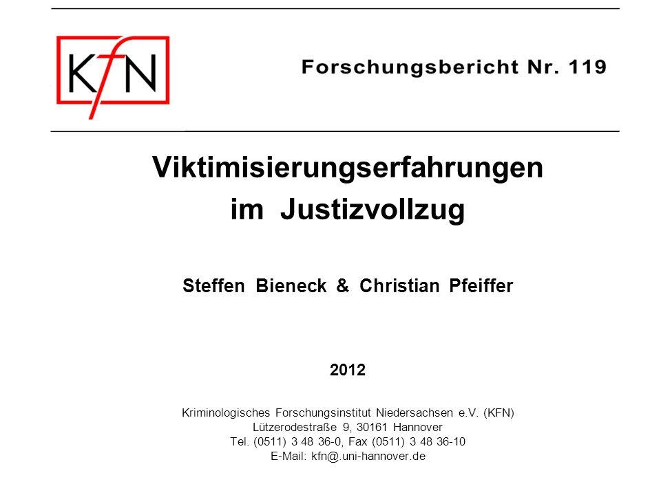 Viktimisierungserfahrungen Steffen Bieneck & Christian Pfeiffer