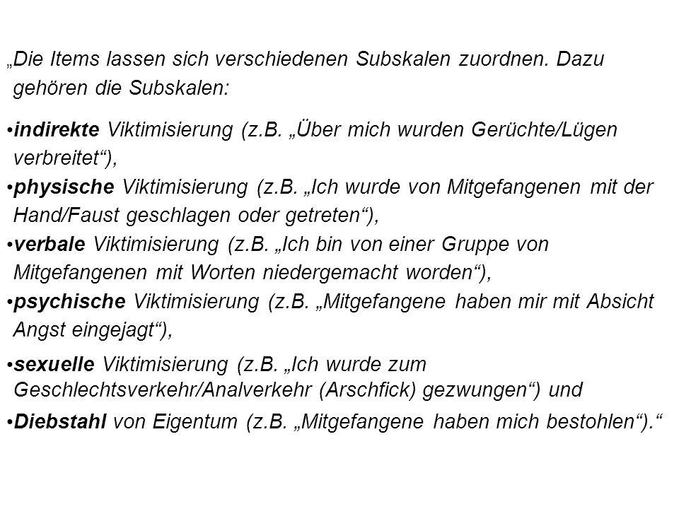 """Diebstahl von Eigentum (z.B. """"Mitgefangene haben mich bestohlen )."""