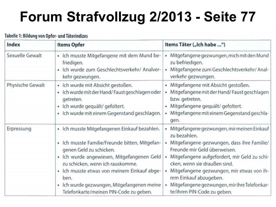 Forum Strafvollzug 2/2013 - Seite 77