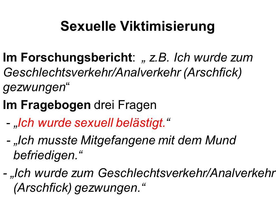 Sexuelle Viktimisierung