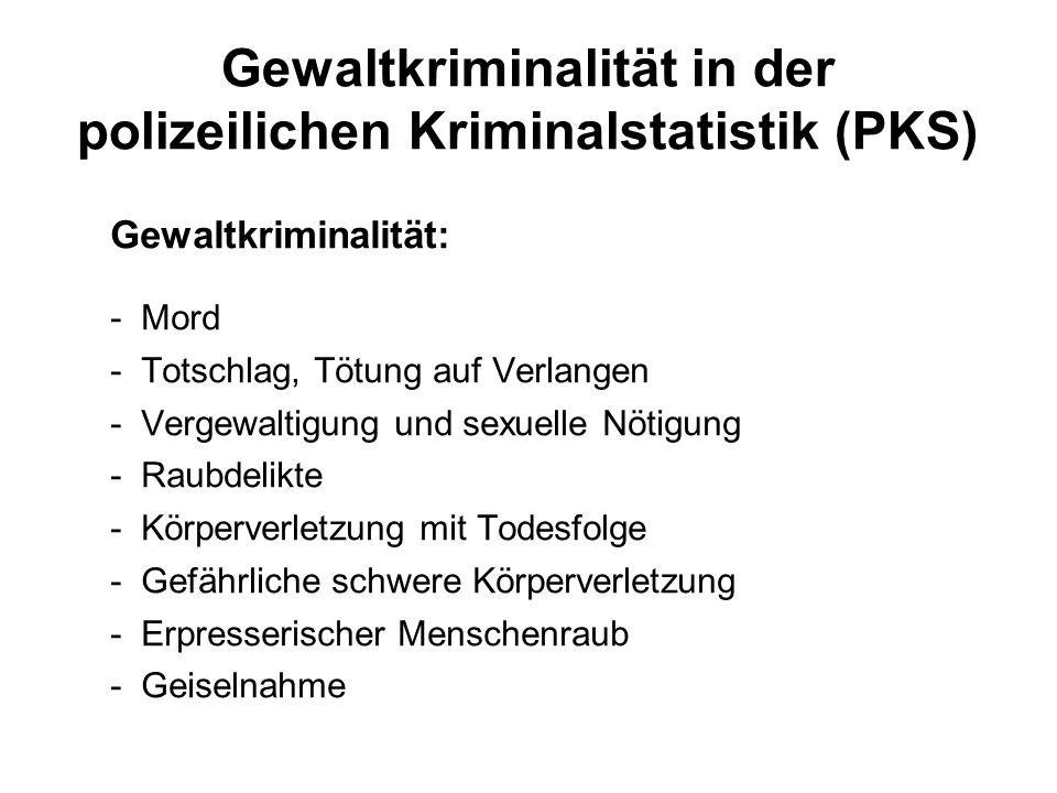 Gewaltkriminalität in der polizeilichen Kriminalstatistik (PKS)