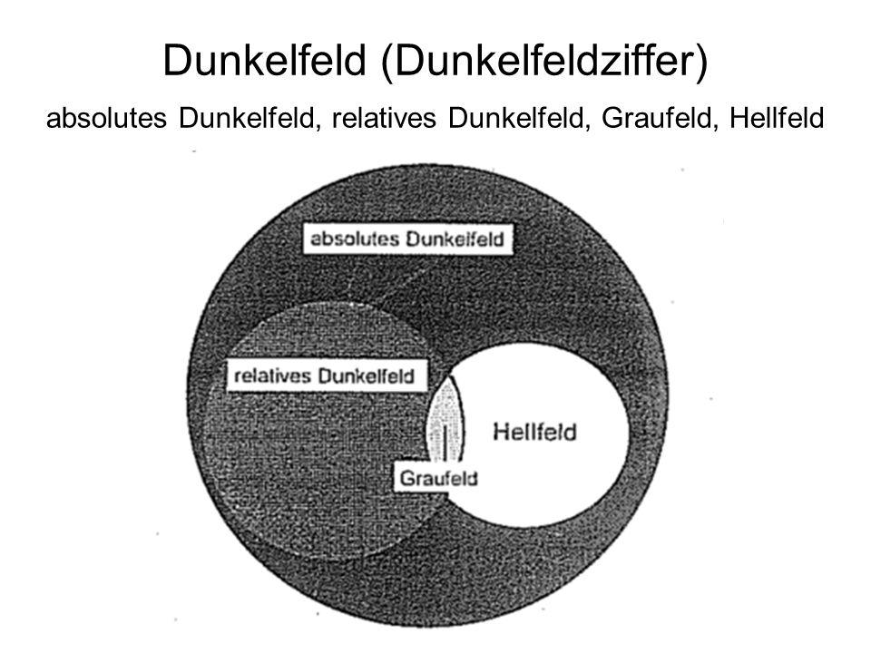 Dunkelfeld (Dunkelfeldziffer) absolutes Dunkelfeld, relatives Dunkelfeld, Graufeld, Hellfeld