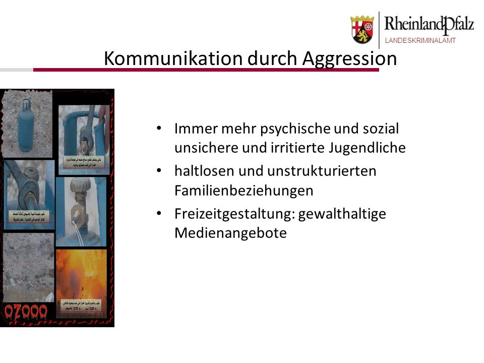 Kommunikation durch Aggression