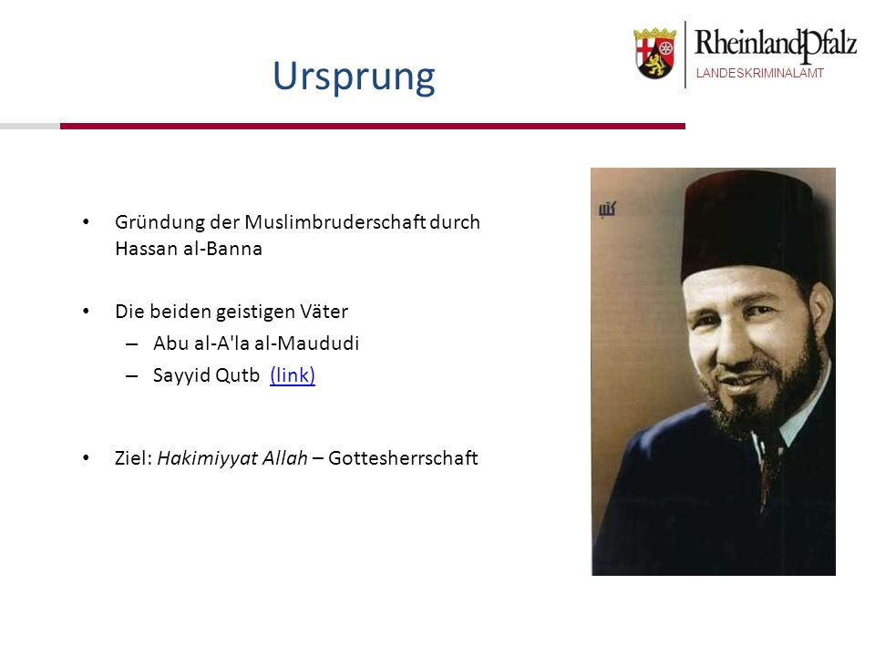 Ursprung Gründung der Muslimbruderschaft durch Hassan al-Banna