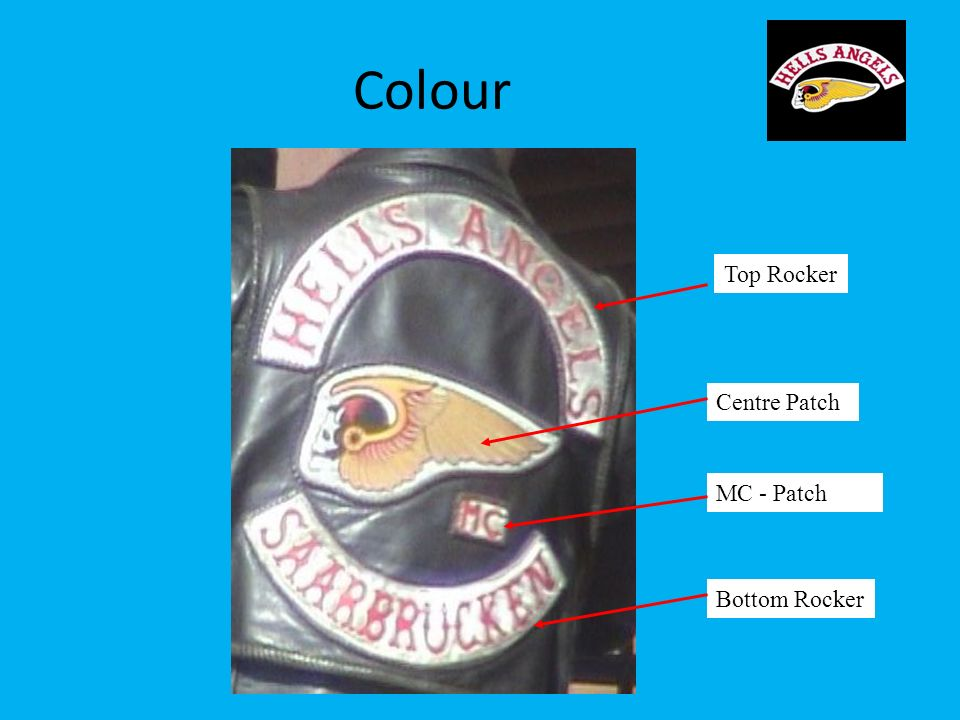 Colour Top Rocker Centre Patch MC - Patch Bottom Rocker