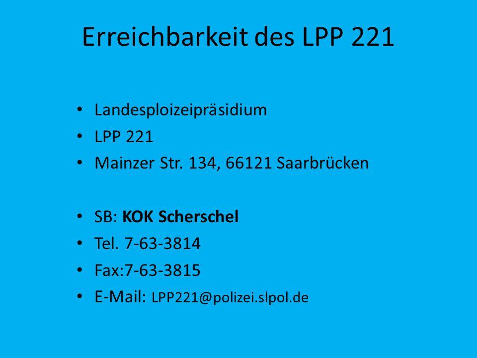 Erreichbarkeit des LPP 221