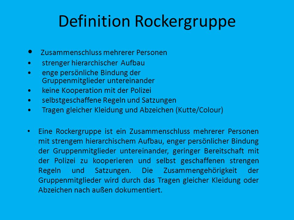 Definition Rockergruppe