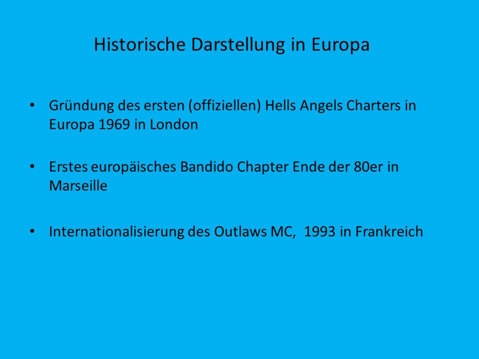 Historische Darstellung in Europa