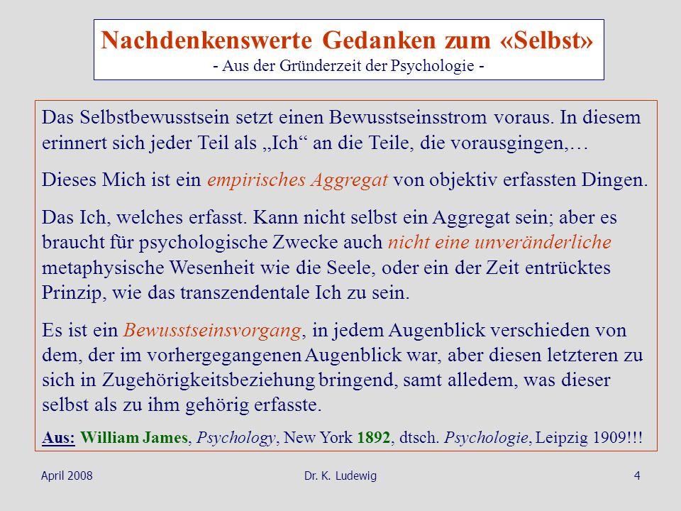 - Aus der Gründerzeit der Psychologie -