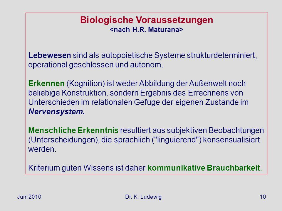 Biologische Voraussetzungen
