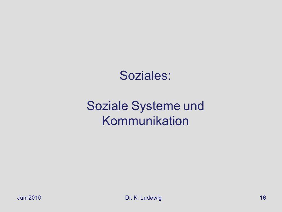 Soziale Systeme und Kommunikation