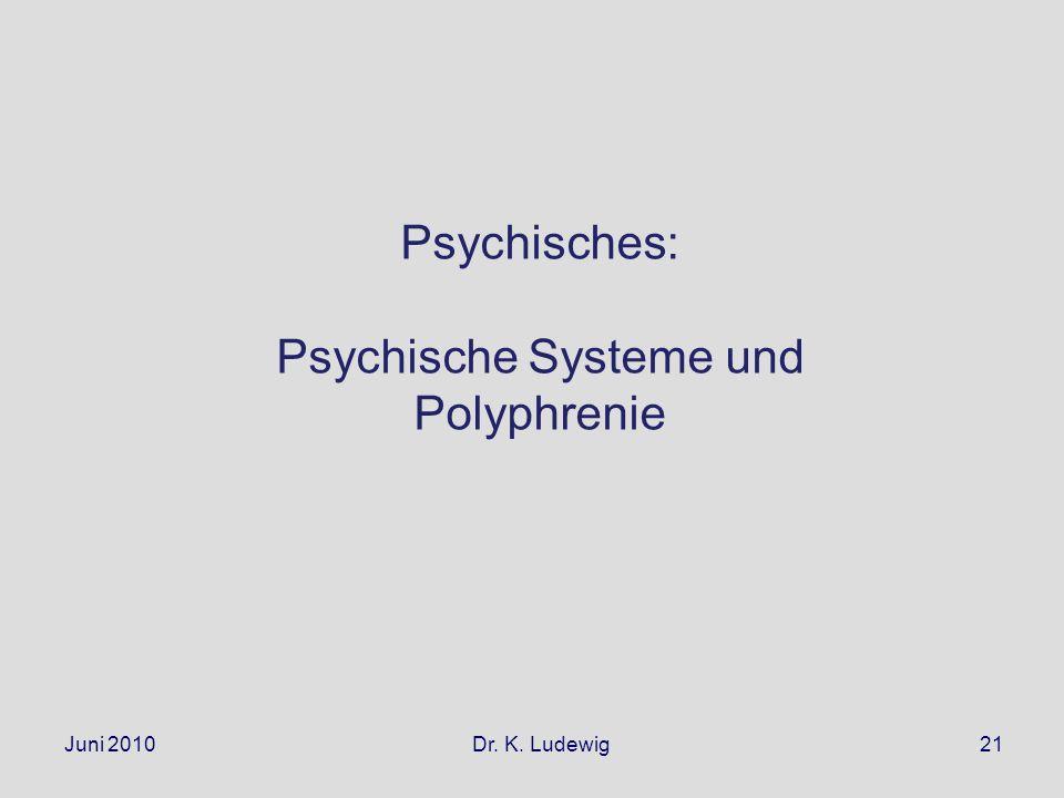 Psychische Systeme und Polyphrenie