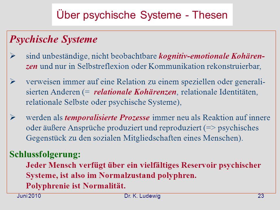 Über psychische Systeme - Thesen