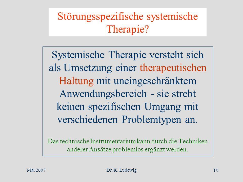 Störungsspezifische systemische Therapie