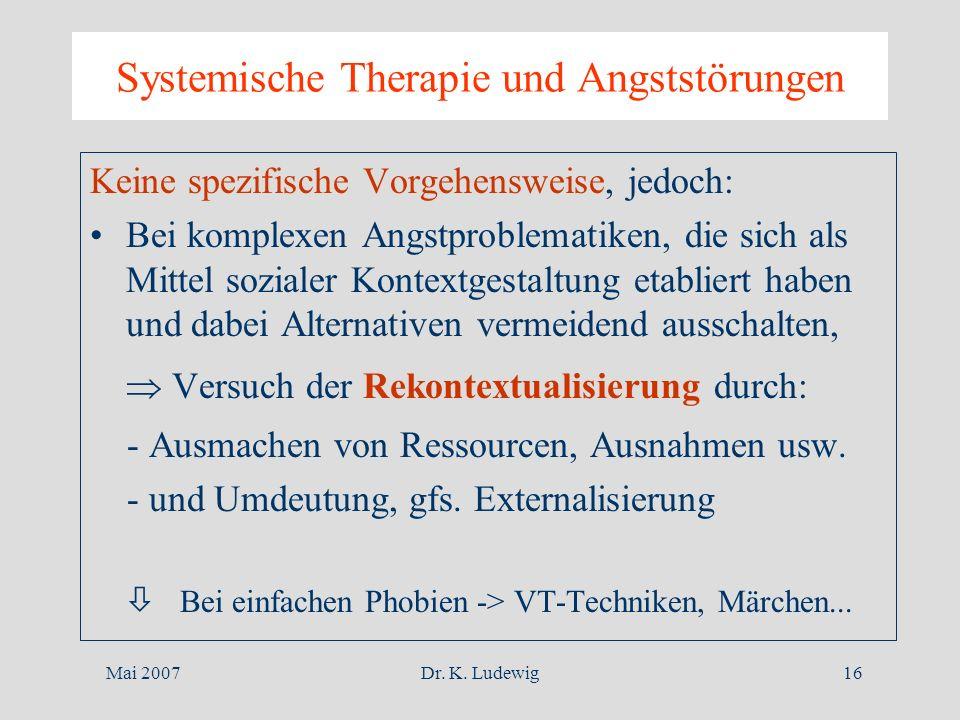 Systemische Therapie und Angststörungen