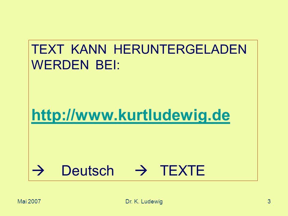 http://www.kurtludewig.de  Deutsch  TEXTE