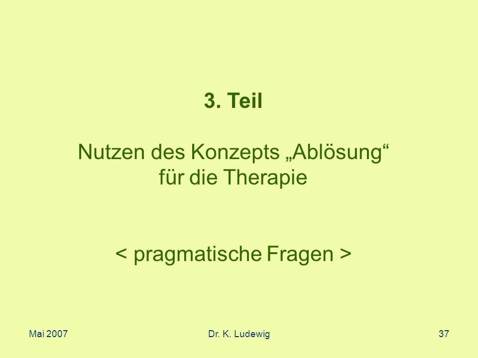 """Nutzen des Konzepts """"Ablösung für die Therapie"""