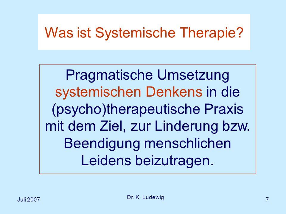 Was ist Systemische Therapie