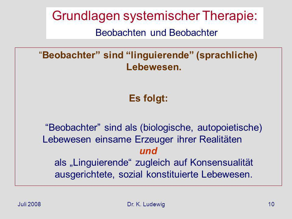 Grundlagen systemischer Therapie: Beobachten und Beobachter