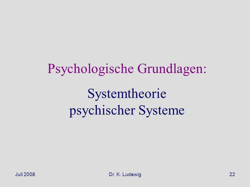 Psychologische Grundlagen: