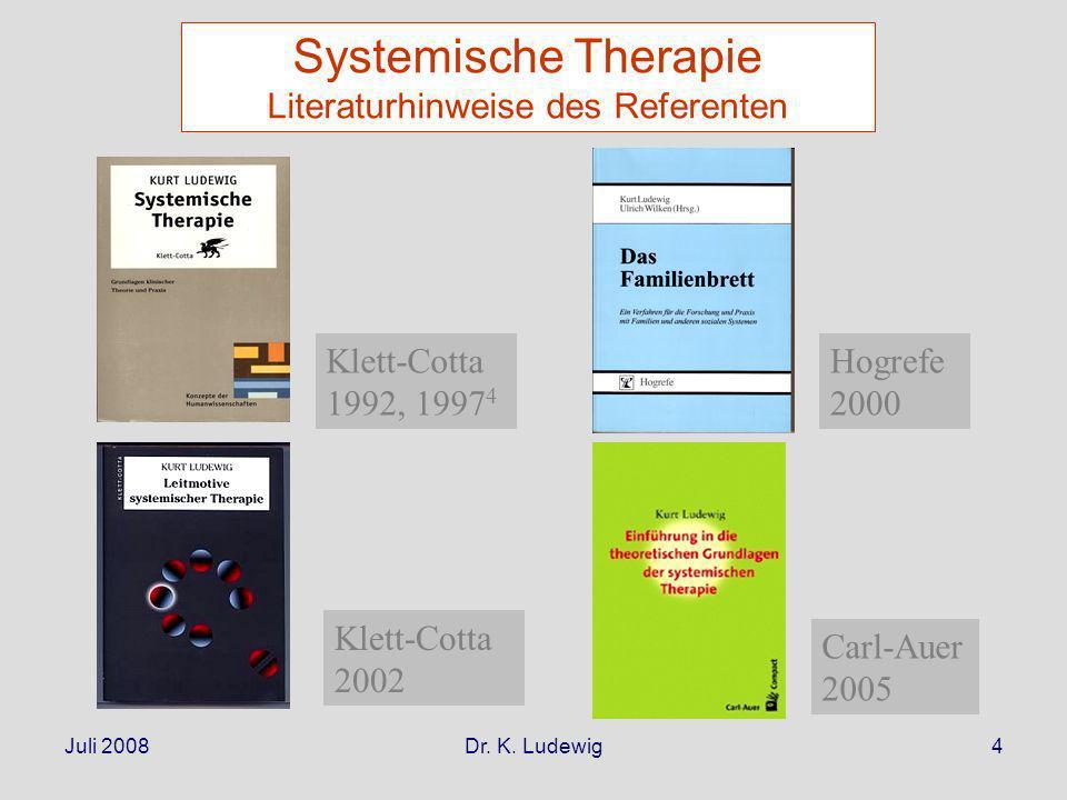 Systemische Therapie Literaturhinweise des Referenten