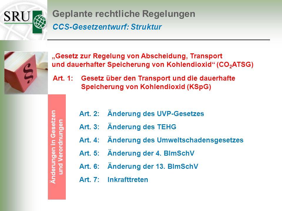 Änderungen in Gesetzen und Verordnungen