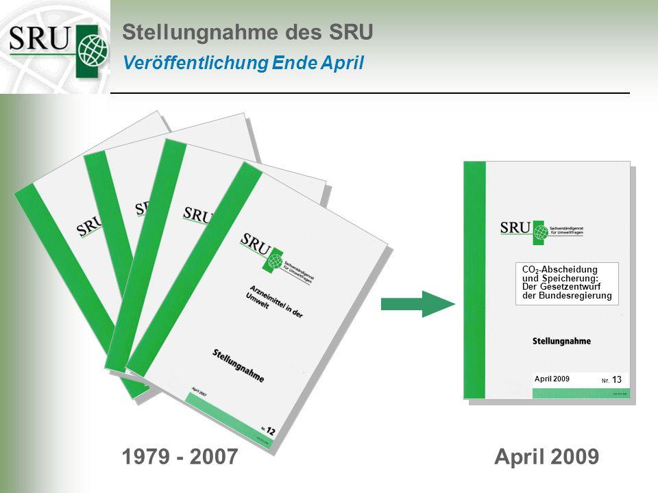 Stellungnahme des SRU 1979 - 2007 April 2009