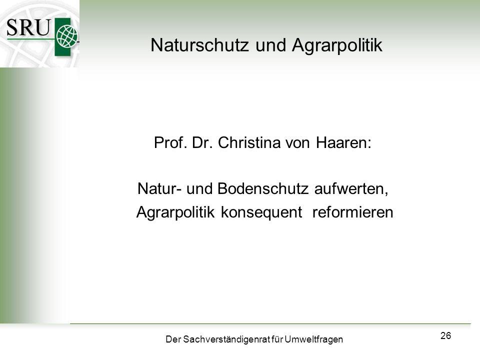 Naturschutz und Agrarpolitik