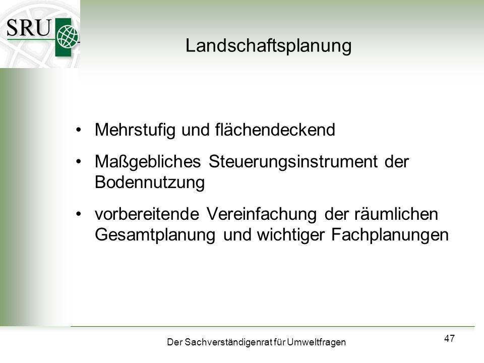 Landschaftsplanung Mehrstufig und flächendeckend