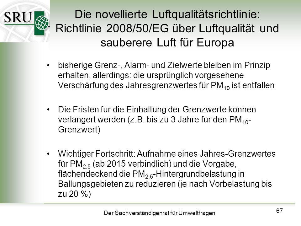 Die novellierte Luftqualitätsrichtlinie: Richtlinie 2008/50/EG über Luftqualität und sauberere Luft für Europa