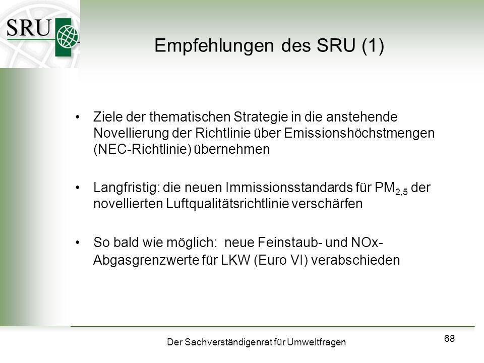 Empfehlungen des SRU (1)