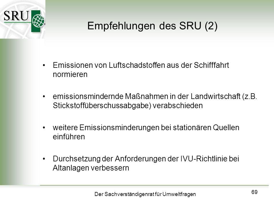 Empfehlungen des SRU (2)