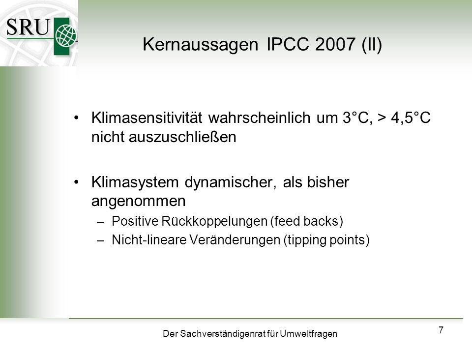 Kernaussagen IPCC 2007 (II)