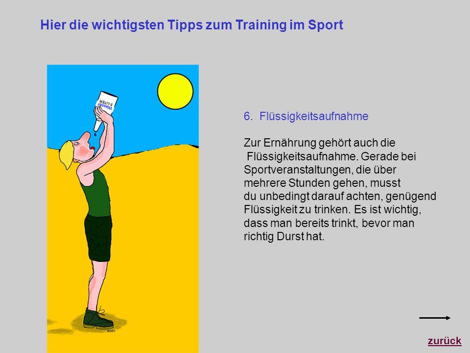 Hier die wichtigsten Tipps zum Training im Sport