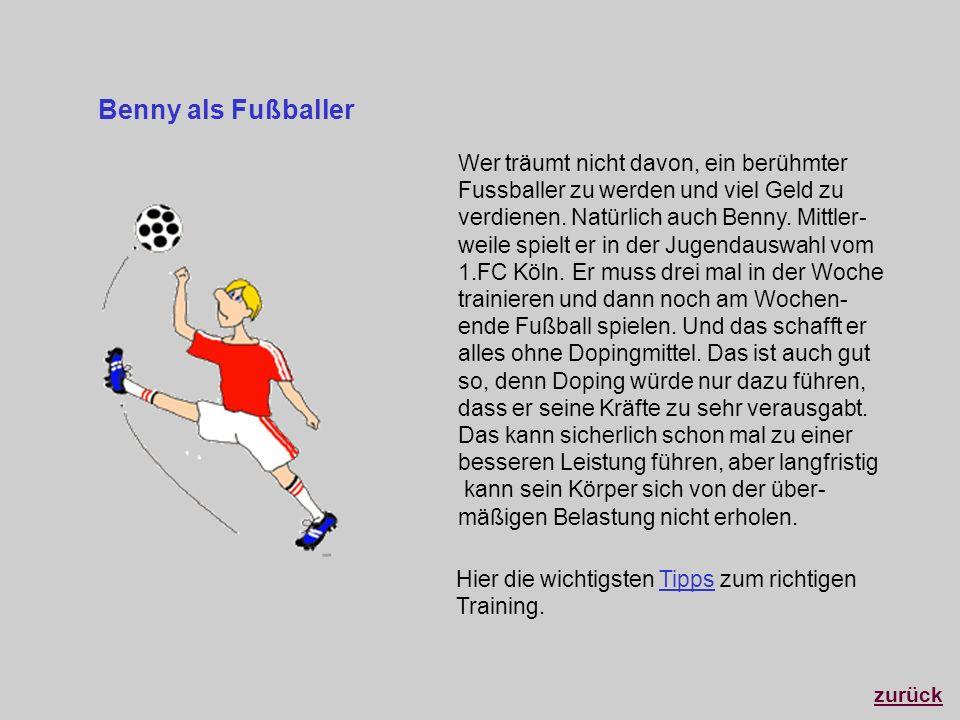 Benny als Fußballer