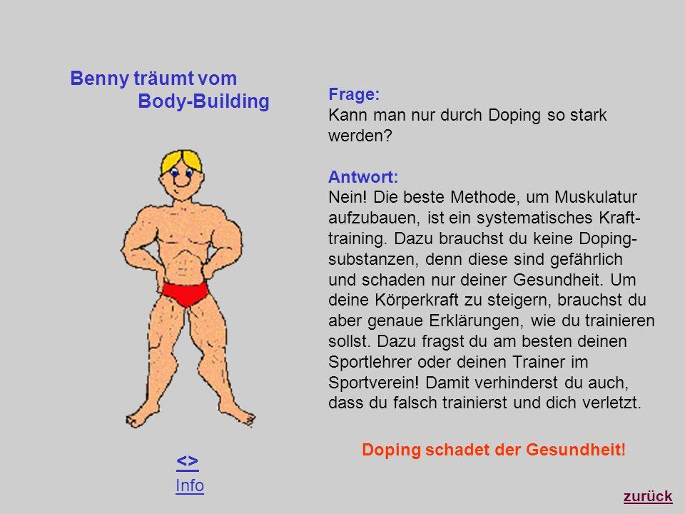 Benny träumt vom Body-Building