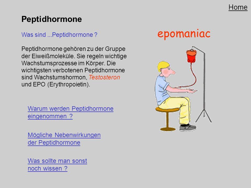 epomaniac Peptidhormone Home Warum werden Peptidhormone eingenommen