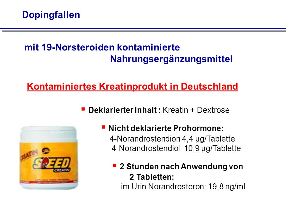 Kontaminiertes Kreatinprodukt in Deutschland