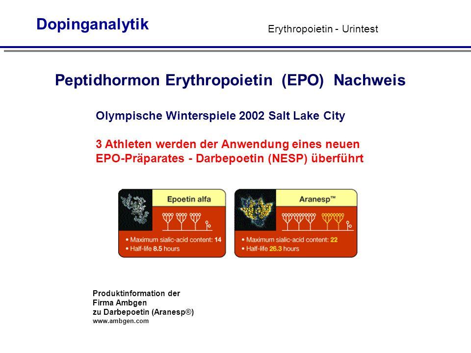Peptidhormon Erythropoietin (EPO) Nachweis