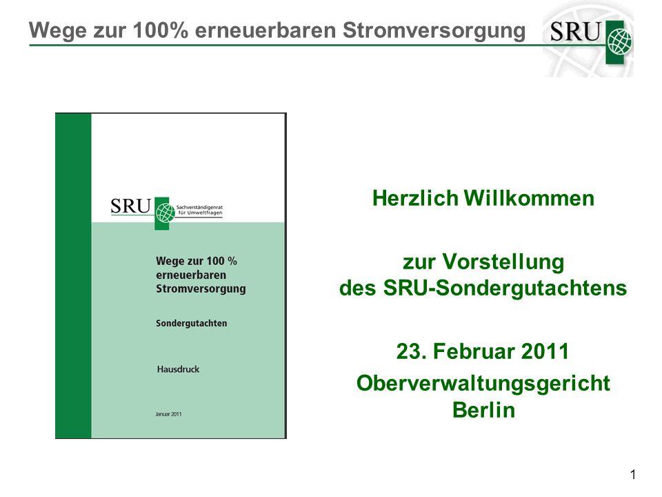 zur Vorstellung des SRU-Sondergutachtens Oberverwaltungsgericht Berlin