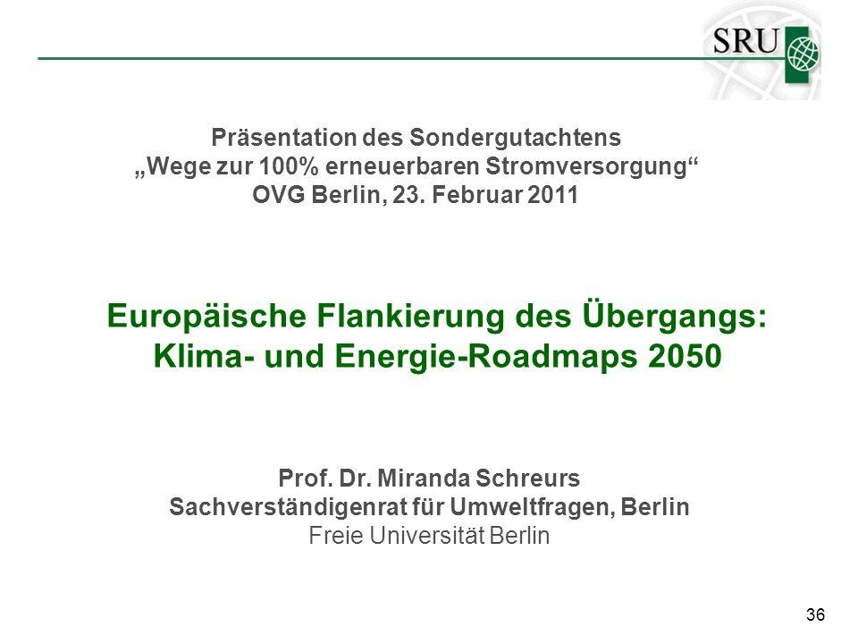 """Präsentation des Sondergutachtens """"Wege zur 100% erneuerbaren Stromversorgung"""