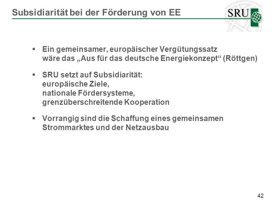 Subsidiarität bei der Förderung von EE